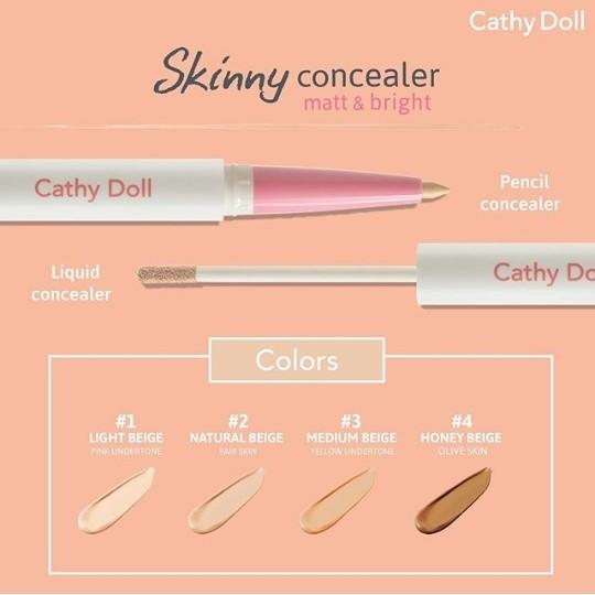Cathy Doll Skinny Concealer yang memiliki 4 shade