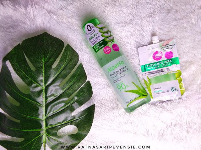 Review Aloe Ha Fresh Aloe Vera Toner & Essence Bonus Memory Cream
