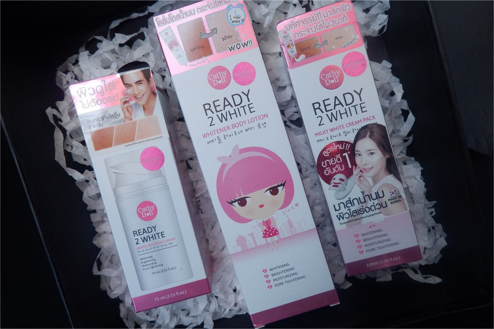 Review Cathy doll Ready 2 White Whitener Body Lotion, White Boosting Cream, Milky White Cream Pack