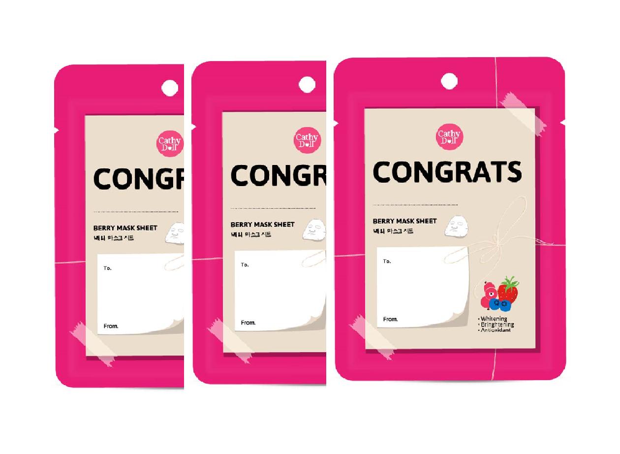 Congratulation Mask Sheet 25g (3 pcs)
